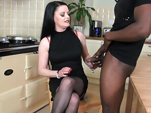 Clothed mom wants the BBC in her mouth and cunt